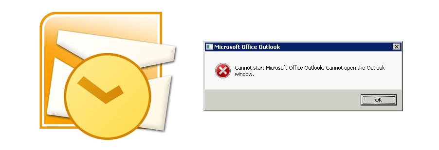 Cannot start Microsoft Office Outlook. Cannot open the Outlook window