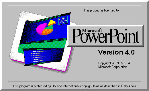 Microsoft PowerPoint 4.0