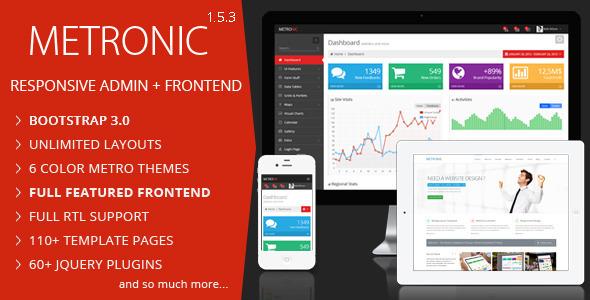 Metronic - Responsive Admin Dashboard Template