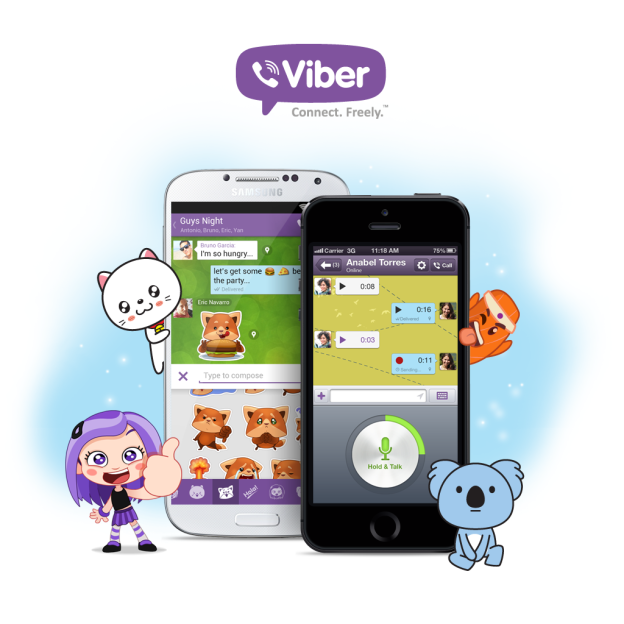 The New Alluring Features of Viber; Stickers, Push-to-Talk and Android Support