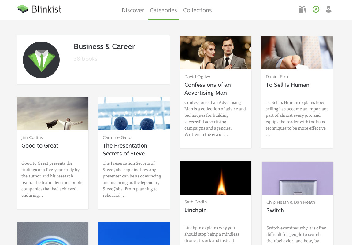 Web Business Category View