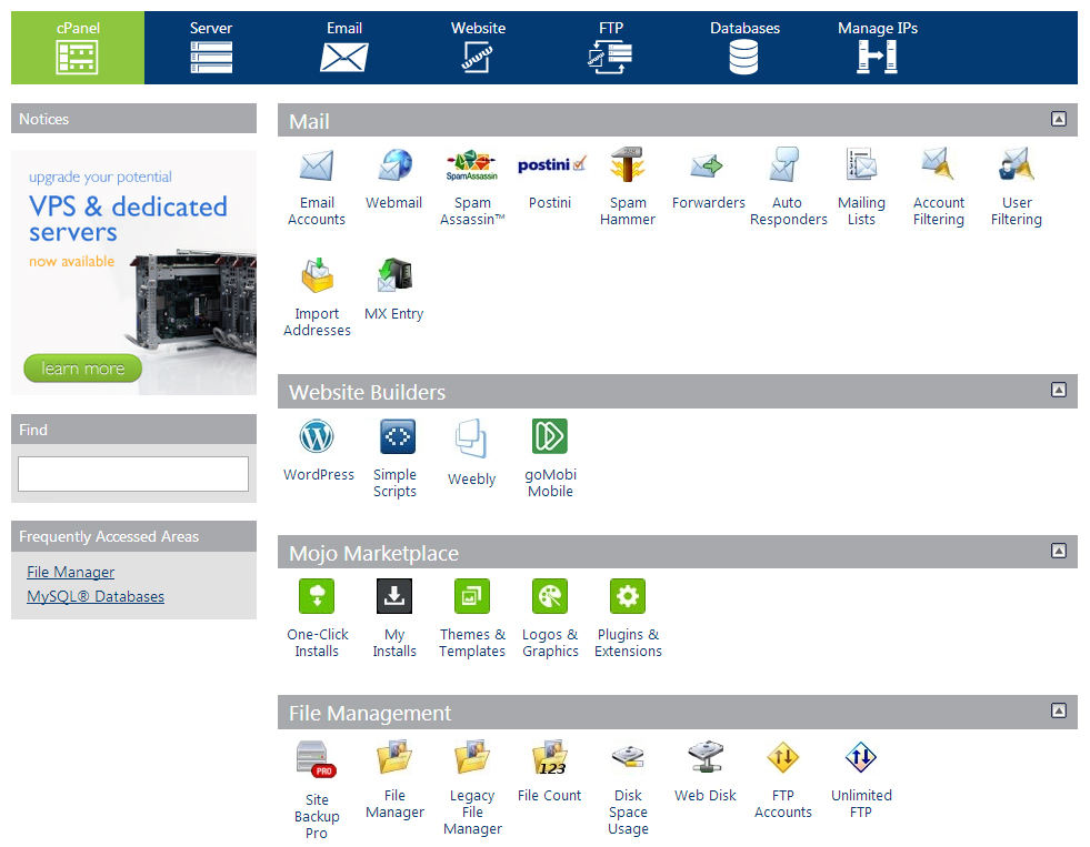 Bluehost's CPanel