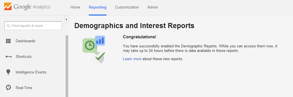 Google Analytics Demographics And Interest Reports In WordPress