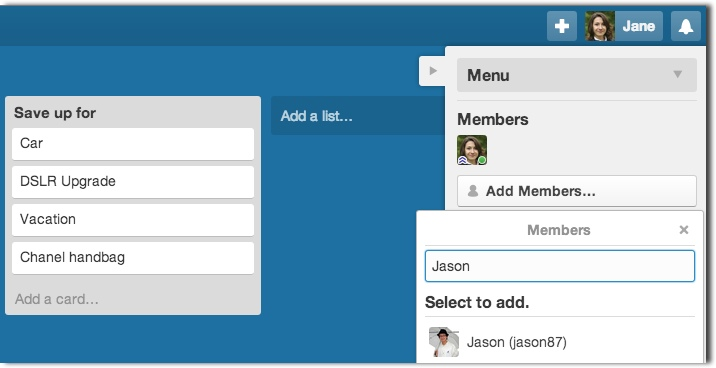Add members to Trello