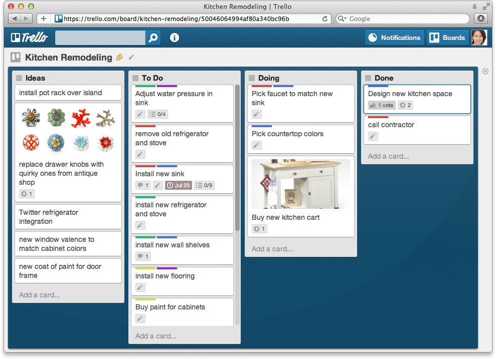 Trello Example Board