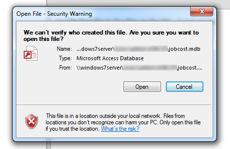 We Cant Verify Who Created This File - Security Warning